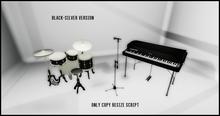 DRUM_SET_BLACK SILVER COMPLETE