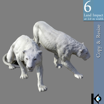 3D / Panther Statues / 6 land impact