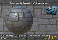 JU Tile With Grass 3D Textures Full Perm