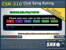 SHX-CSR-210 - Club Song Rating