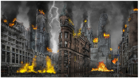 Second Life Marketplace - Sanna Apocalypse Burning City SET MP