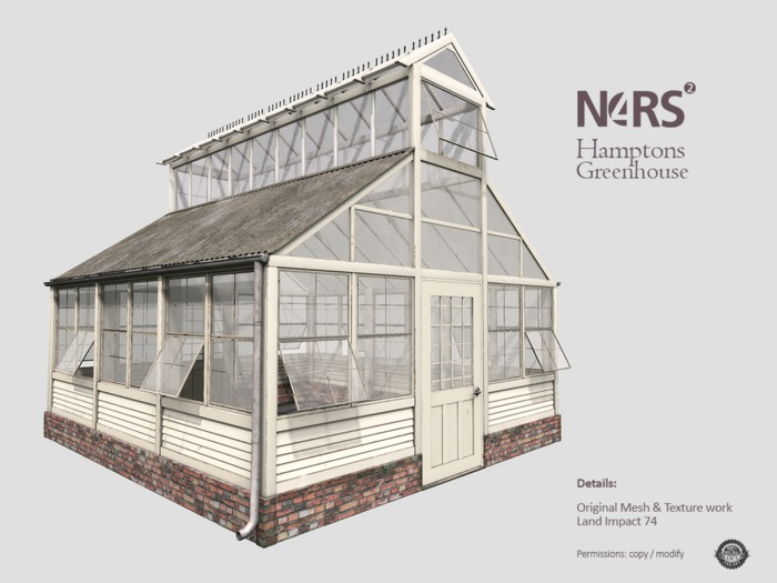 N4RS Hamptons Greenhouse - boxed