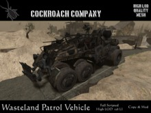 [COCKROACH] Wasteland Patrol Vehicle - Damage System (Mesh)