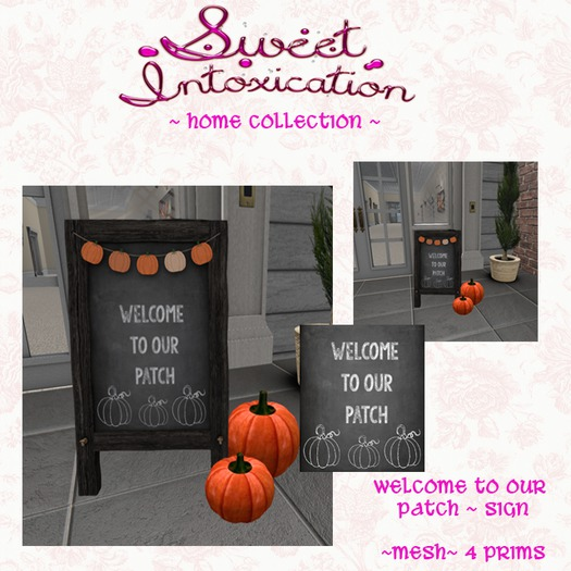 ::Sweet Intoxication:: Welcome to our Patch Sign - Pumpkins