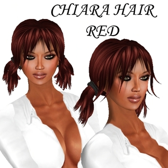 second life marketplace  chiara hair in red cute short
