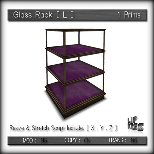 [ Lip Kiss ] Glass Rack [ L ]