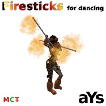 Firesticks for dancing effect