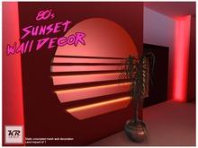 80's Sunset Wall Decoration