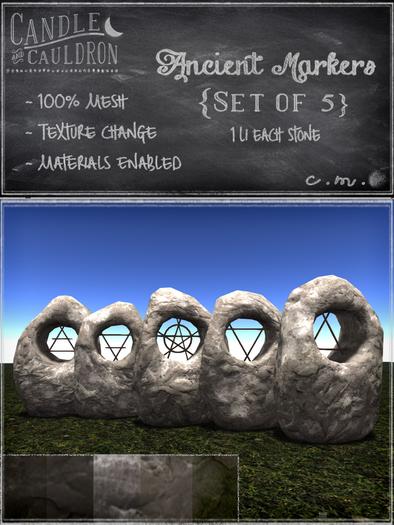 {C&C} Ancient Markers - 5 Set
