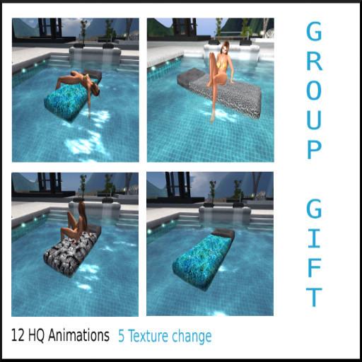 USDesigns Floating mattress 12 HQ animations