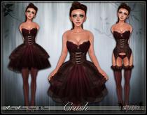 [Wishbox] Crush (Chocolate Raspberry) - Sexy EGL Corset Dress and Lingerie Garter Set w/ Heels Steampunk Gothic Lolita
