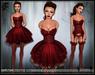[Wishbox] Crush (Lusty Red) - Valentine's Day EGL Dress and Lingerie Garter Set w/ Stockings & Heels. Goth