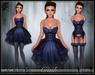 [Wishbox] Crush (Periwinkle) - Sexy EGL Dress and Lingerie Garter Set w/ Heels.