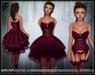[Wishbox] Crush (Fuchsia) - Sexy EGL Dress and Lingerie Garter Set w/ Heels.