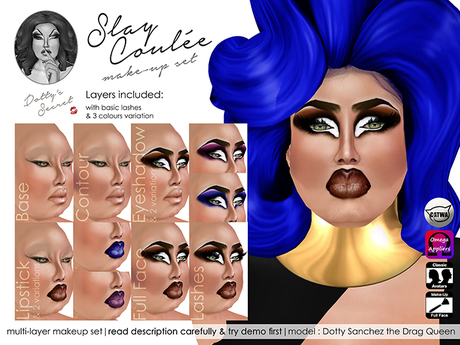 Dotty's Secret - Slay Coulee - Drag Queen Make-up Set