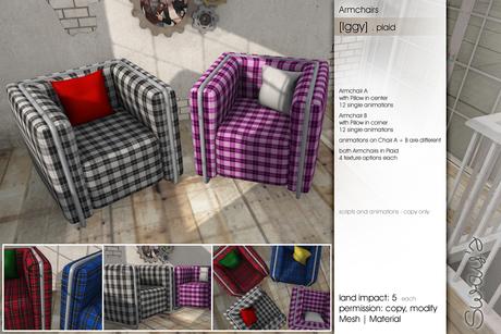 Sway's [Iggy] Armchairs . plaid