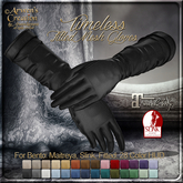 {AS} Timeless Bento Fitted Mesh Gloves for Women: Classic Leather, 28 color HUD, Maitreya, Slink, Physique, Hourglass