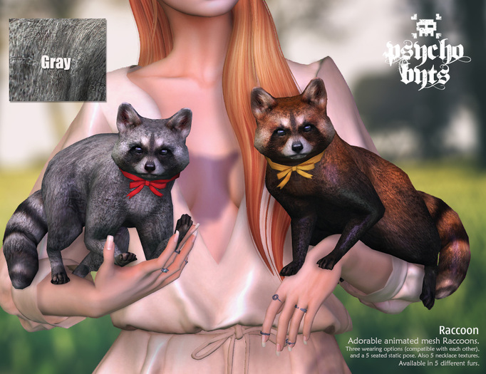 .{PSYCHO:Byts}. Raccoon -Grey