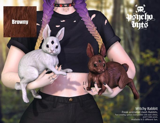 .{PSYCHO:Byts}. Witchy Rabbit -Browny