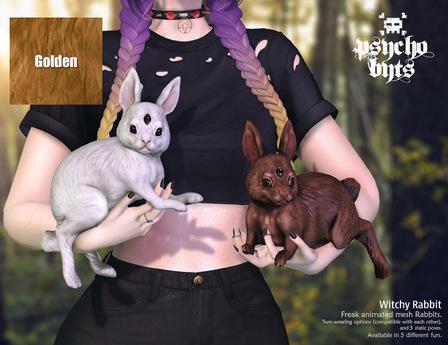 .{PSYCHO:Byts}. Witchy Rabbit -Golden