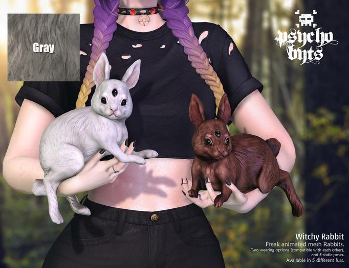 .{PSYCHO:Byts}. Witchy Rabbit -Gray