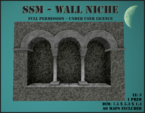 SSM - Wall Niche - marble and granite