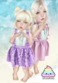 {CuteShit} Witchy & plain PURPLE Dress (Baby & Kid)