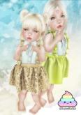 {CuteShit} Witchy & plain YELLOW Dress (Baby & Kid)