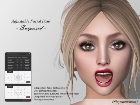 Bento Adjustable Facial Pose - Surprised
