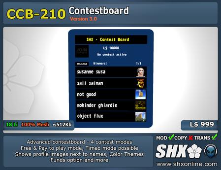 SHX-CCB-210 Contest board