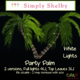 Party Palm - White Lights