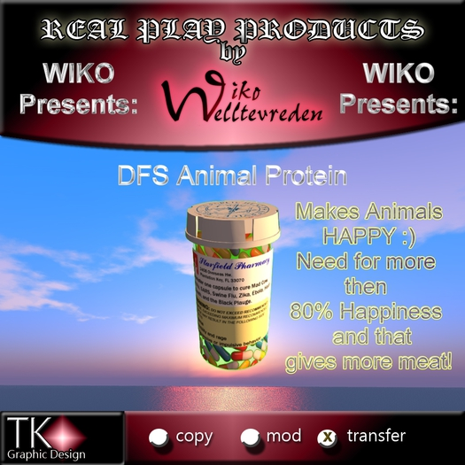 WIKO presents DFS Animal Protein * Makes DFS Animals HAPPY & so you become more meat :)