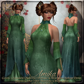 {AS} Amika Fitted Mesh Gown: Green Teal; Maitreya, Slink Physique, Hourglass, Venus, Omega, Fantasy, Pani, Kanzashi