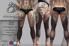 Waldorf Design. Blackout Leg Tattoo