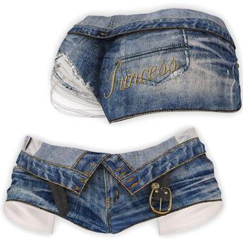 adorsy - Zizel Ripped Denim Jeans Shorts Blue - Maitreya/Legacy