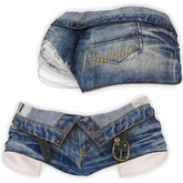 adorsy - Zizel Ripped Denim Jeans Shorts Blue - Maitreya