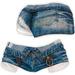 adorsy - Zizel Ripped Denim Jeans Shorts Ciel - Maitreya/Legacy