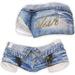 adorsy - Zizel Ripped Denim Jeans Shorts Cornflower - Maitreya/Legacy