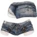 adorsy - Zizel Ripped Denim Jeans Shorts Dark Blue - Maitreya/Legacy