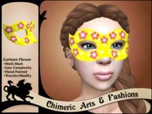Cartoon Flower Mask - Yellow