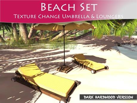 Moco Emporium ~ Lava Beach Umbrella & Lounge Set v1