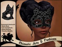 ~Chimeric Fashions~ Zoomorph Knotwork Mask (Black)