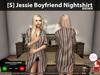 [S] Jessie Boyfriend Nightshirt Brown