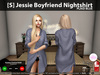 [S] Jessie Boyfriend Nightshirt Plaid Blue