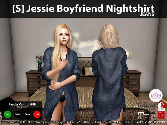 [S] Jessie Boyfriend Nightshirt Jeans