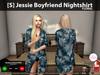 [S] Jessie Boyfriend Nightshirt Floral