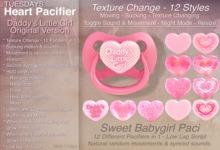 Tuesdays Daddy's Little Girl Pacifier / Binky - Texture Change - Original