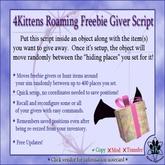 4Kittens Roaming Freebie Script