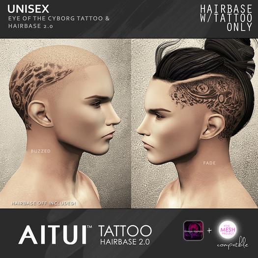 AITUI TATTOO - Hairbase 2.0 - Eye of the Cyborg