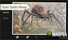 MadPea Giant Spider Mount